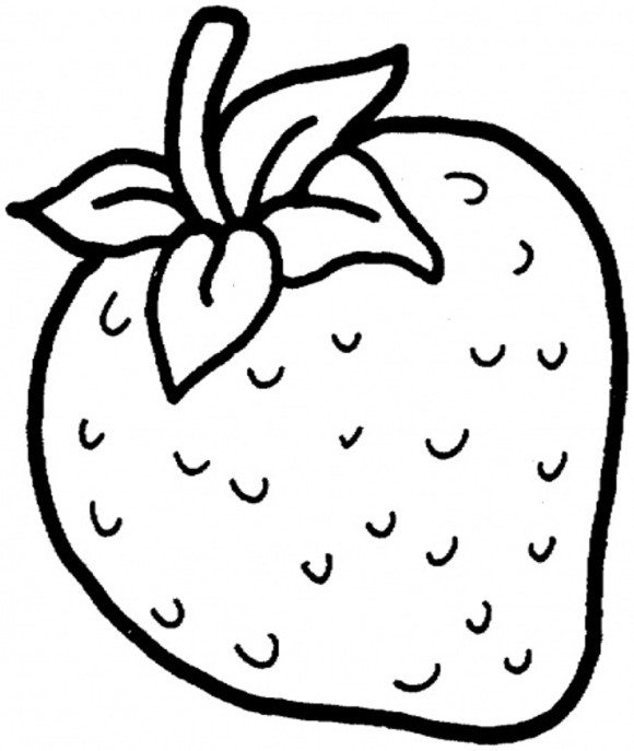 Strawberry coloring #1, Download drawings