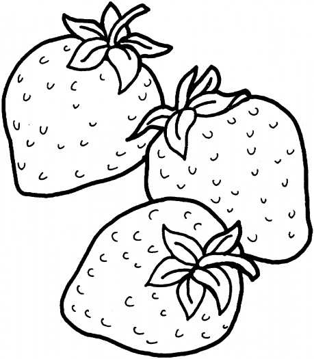 Strawberry coloring #5, Download drawings