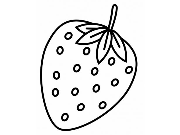 Strawberry coloring #4, Download drawings