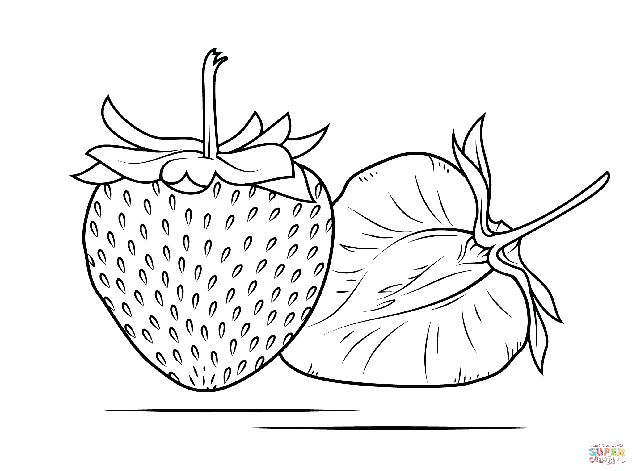 Strawberry coloring #7, Download drawings