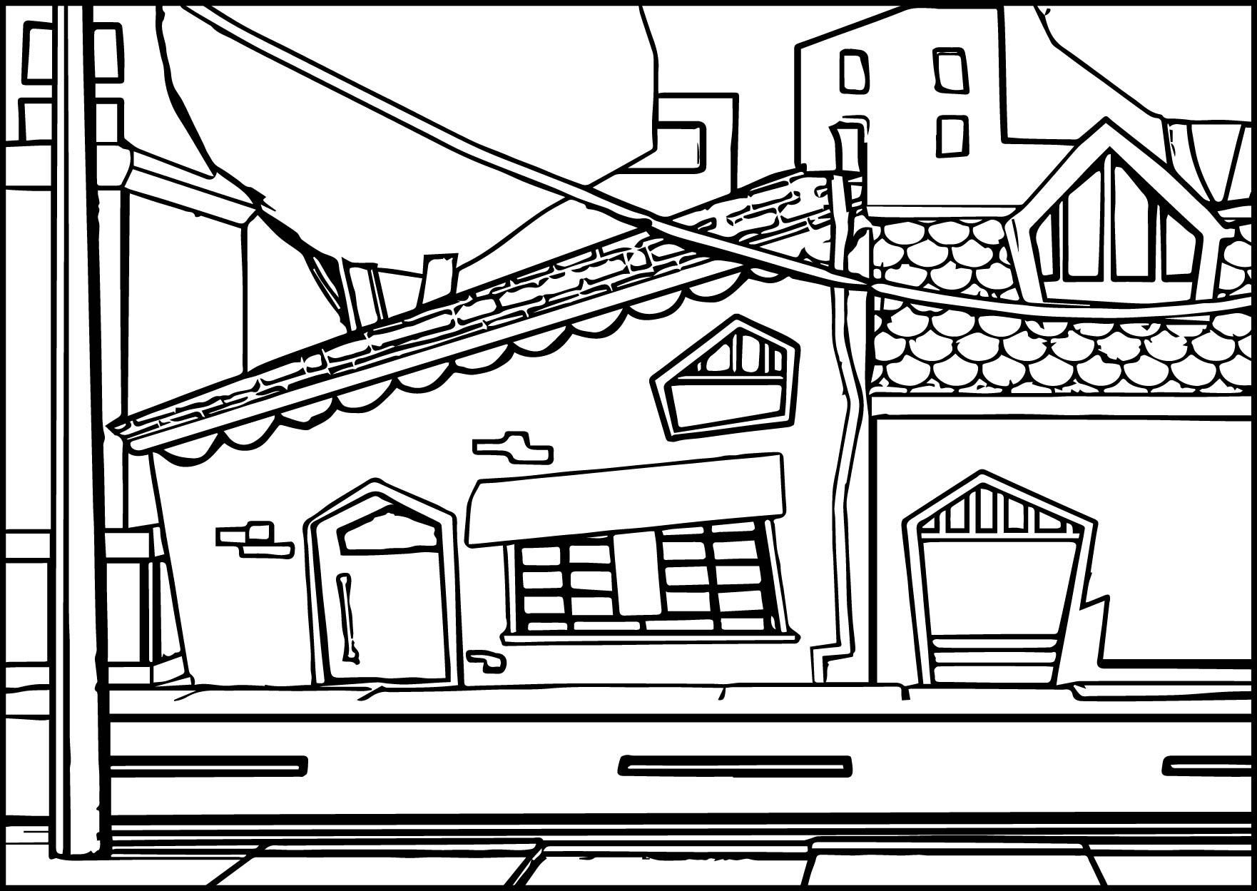 Street coloring #1, Download drawings