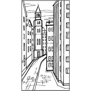 Street coloring #8, Download drawings