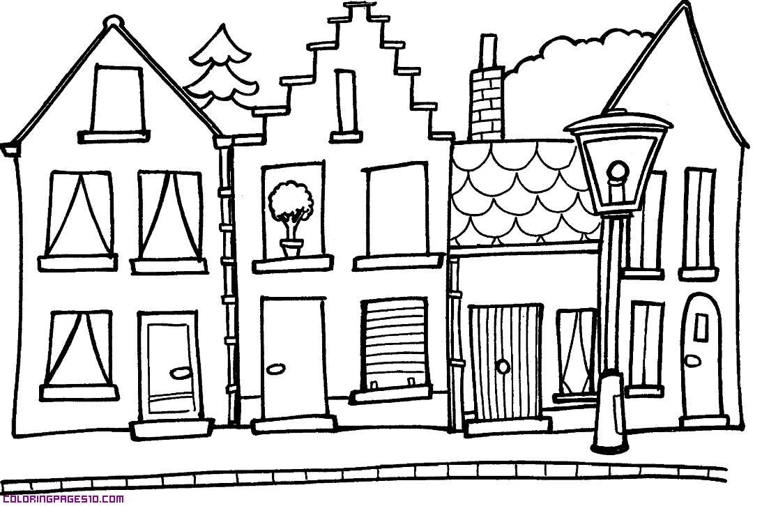 Street coloring #2, Download drawings