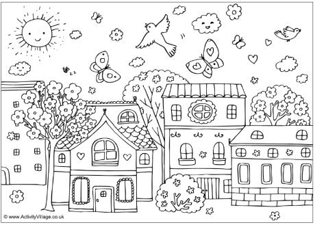 Street coloring #15, Download drawings