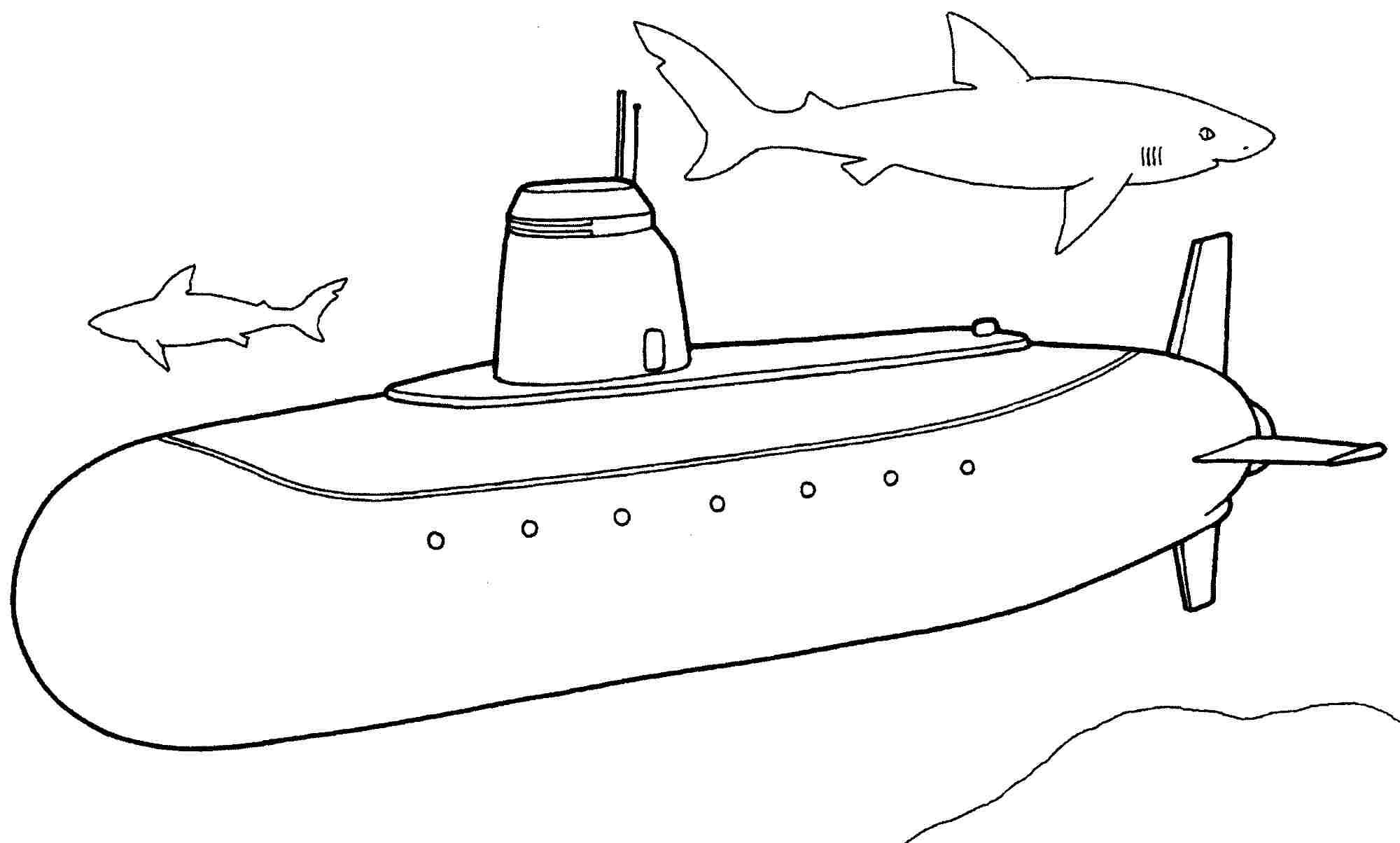 Submarine coloring #7, Download drawings