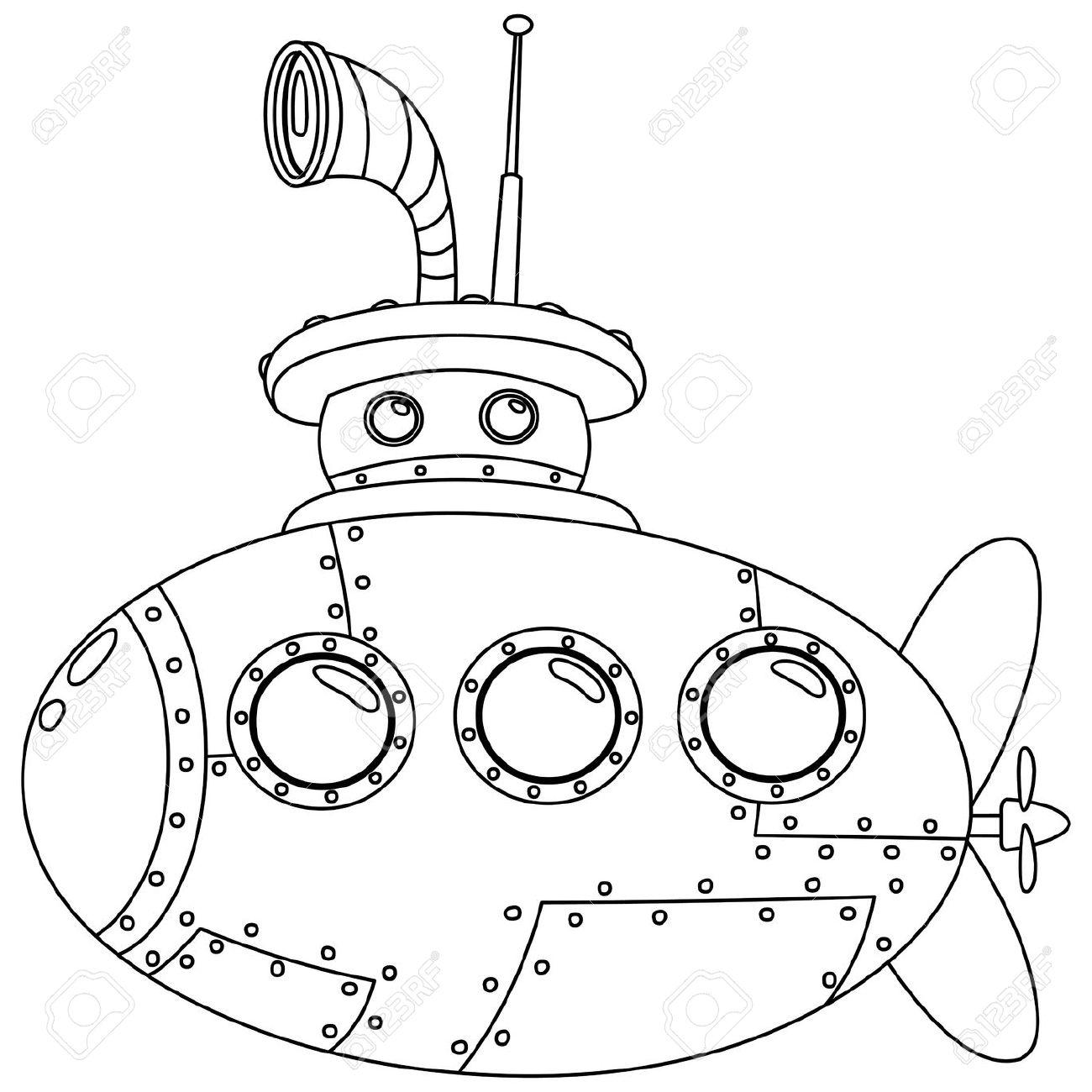 Submarine coloring #3, Download drawings