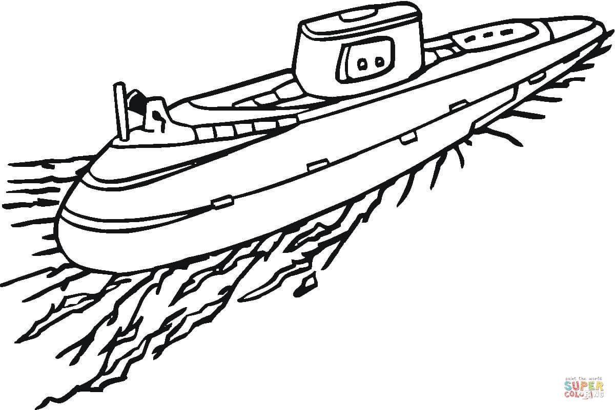 Submarine coloring #6, Download drawings
