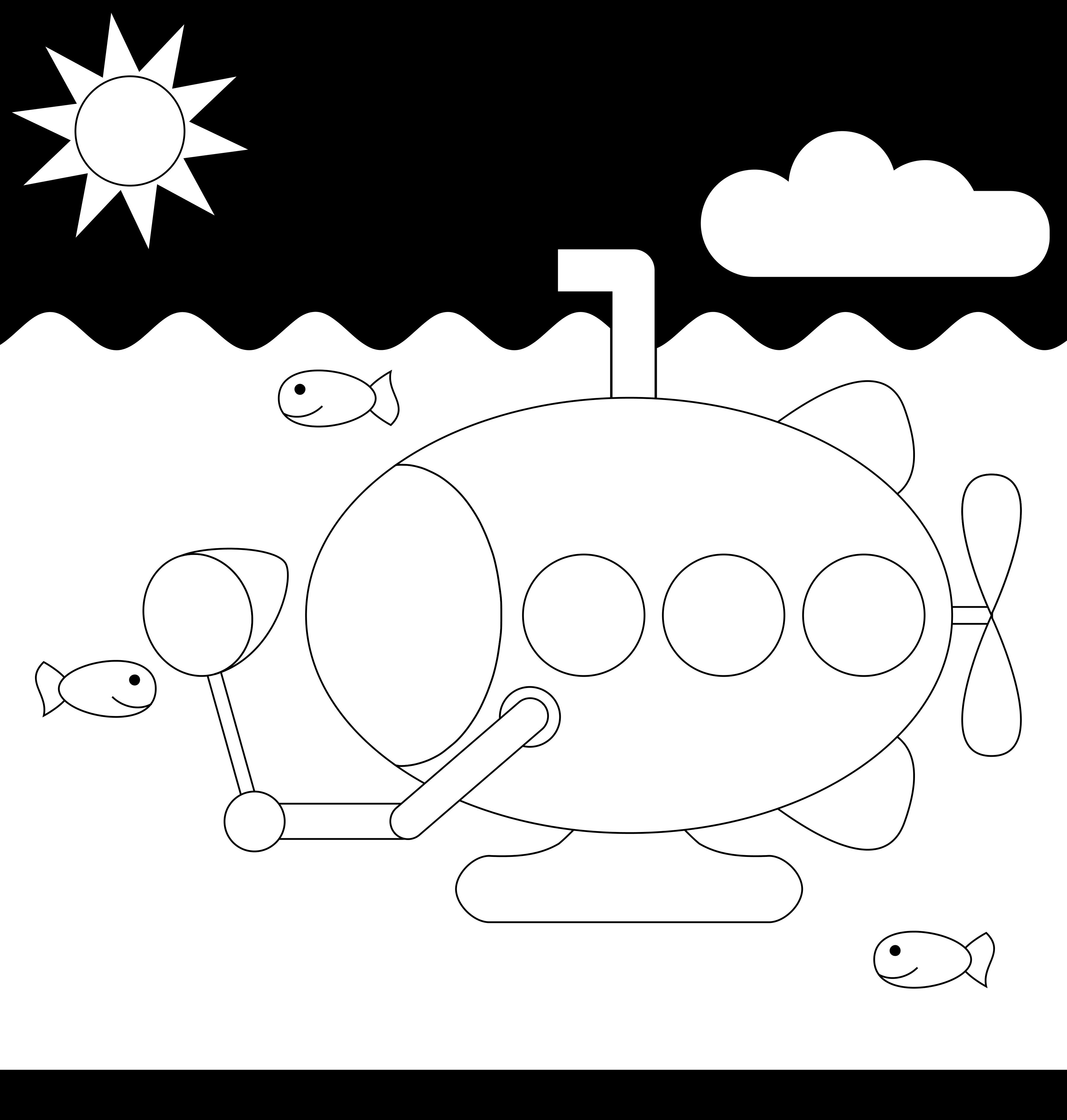 Submarine coloring #2, Download drawings