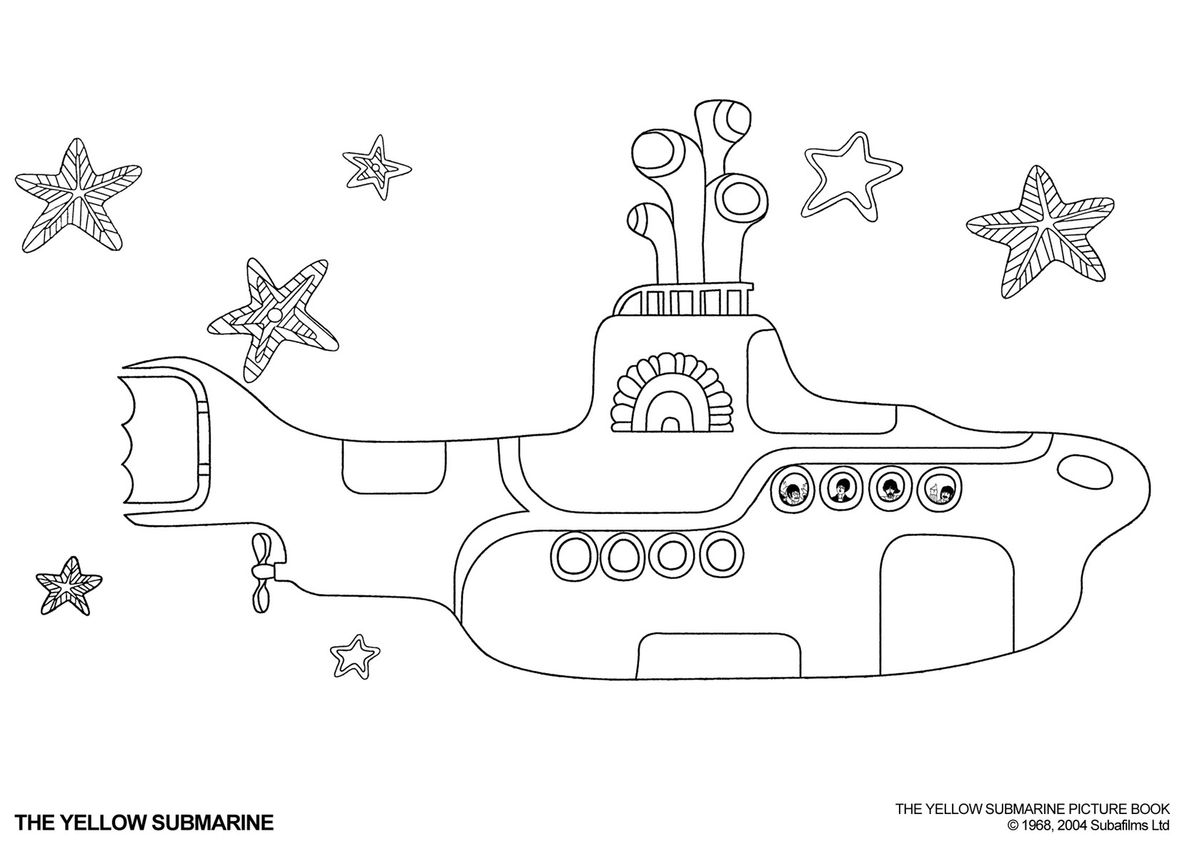 Submarine coloring #4, Download drawings