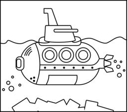 Submarine coloring #14, Download drawings