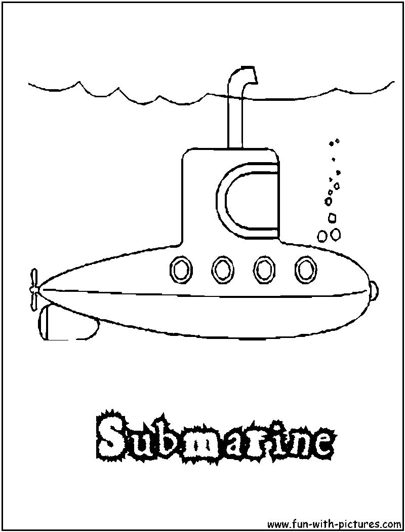 Submarine coloring #1, Download drawings