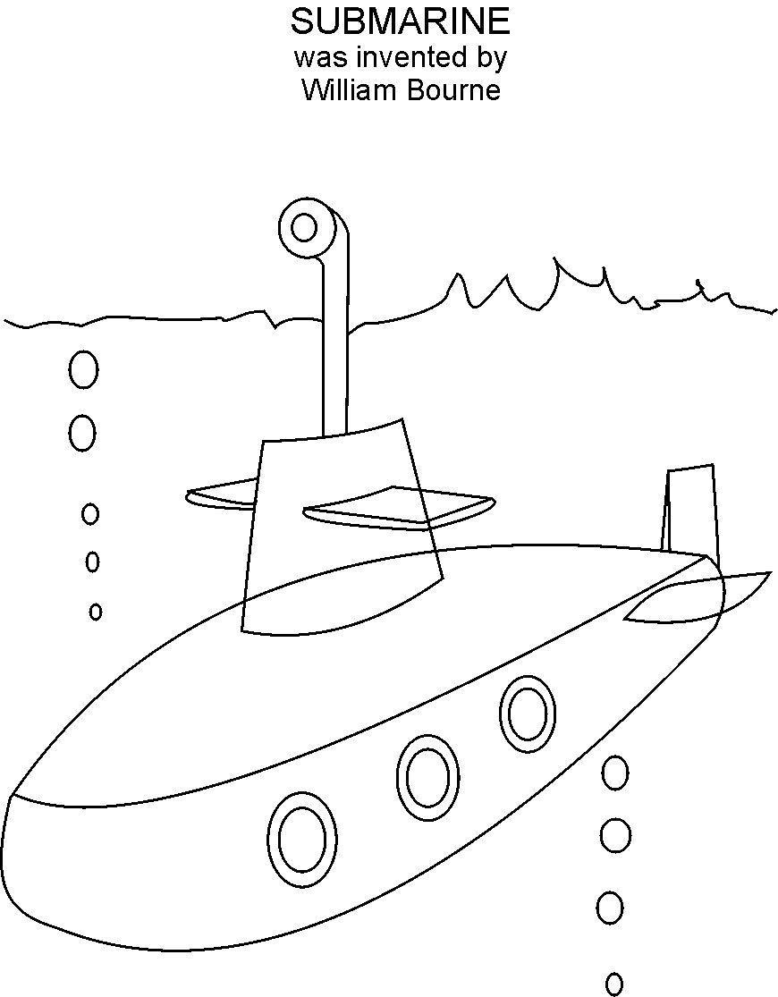 Submarine coloring #8, Download drawings