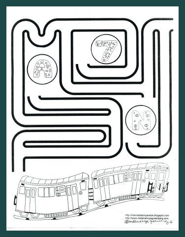 Subway coloring #1, Download drawings