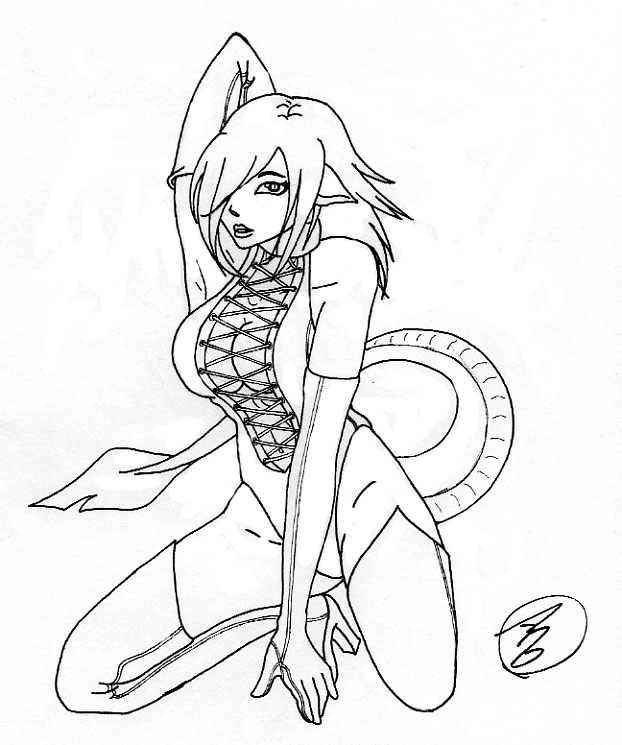 Succubus coloring #19, Download drawings