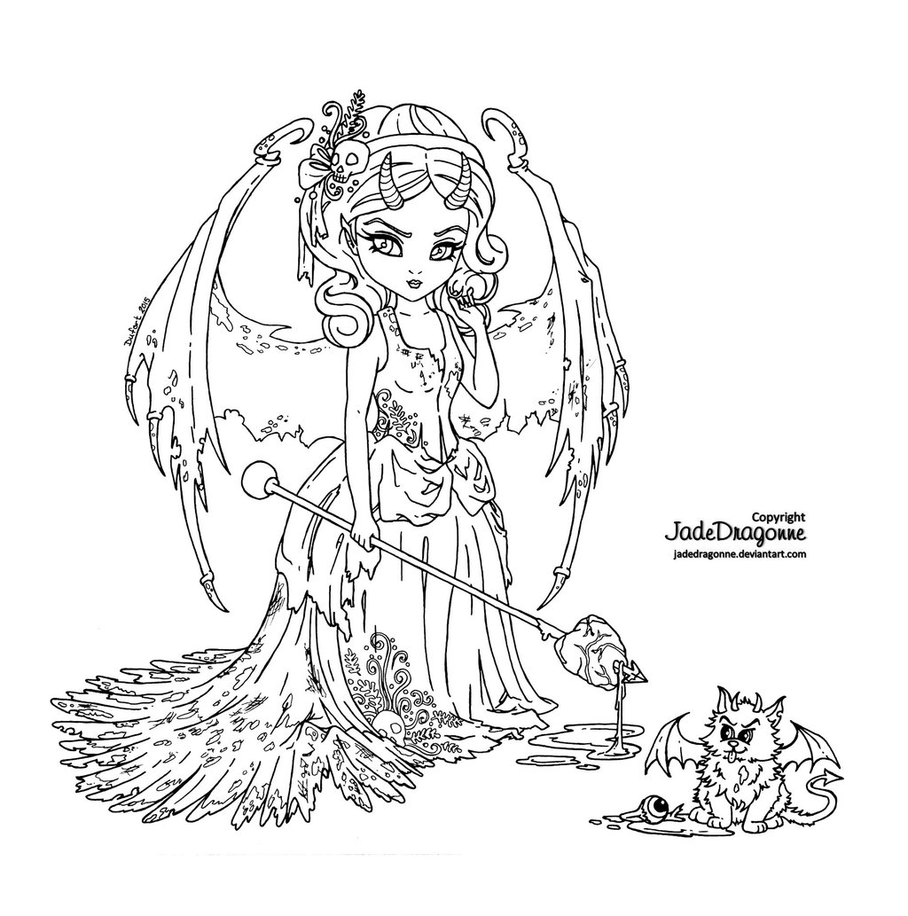 Succubus coloring #4, Download drawings