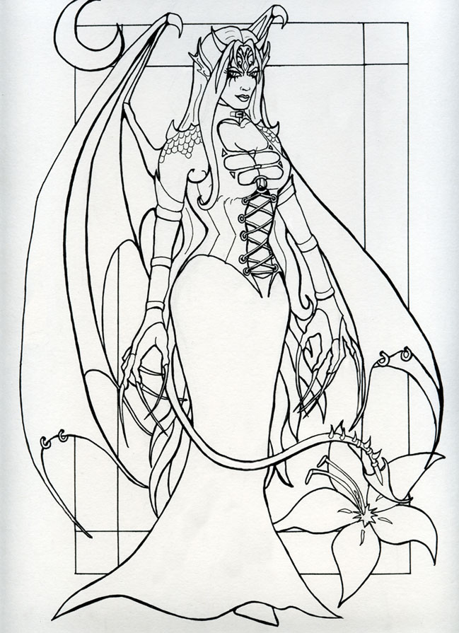 Succubus coloring #12, Download drawings