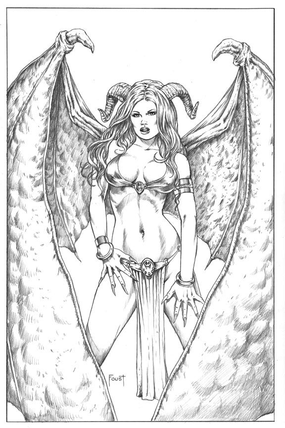 Succubus coloring #15, Download drawings