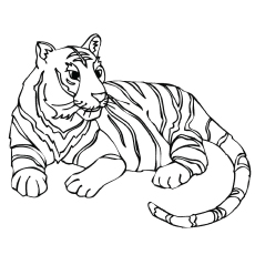Sumatran Tiger coloring #4, Download drawings