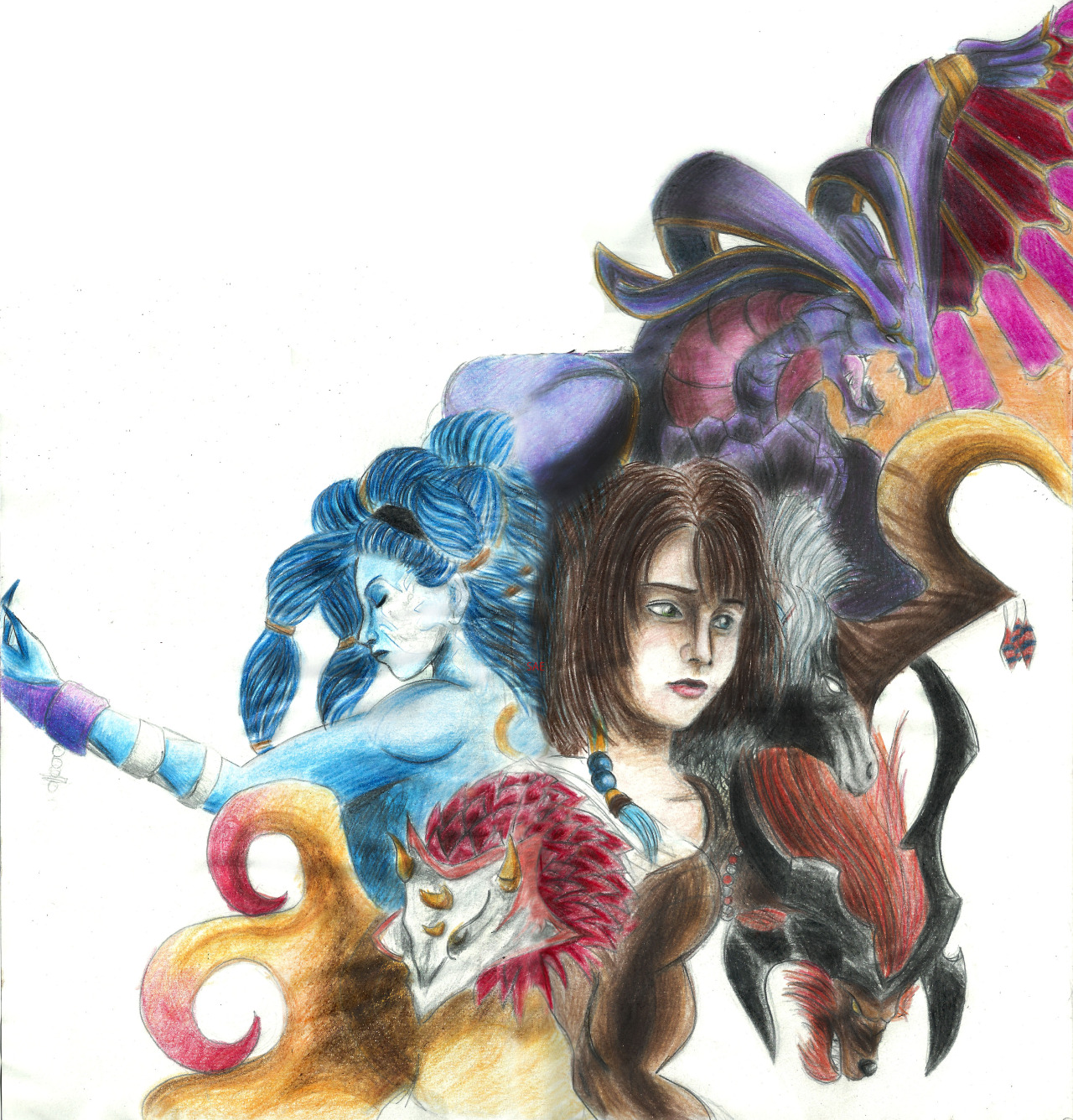 Summoner coloring #16, Download drawings