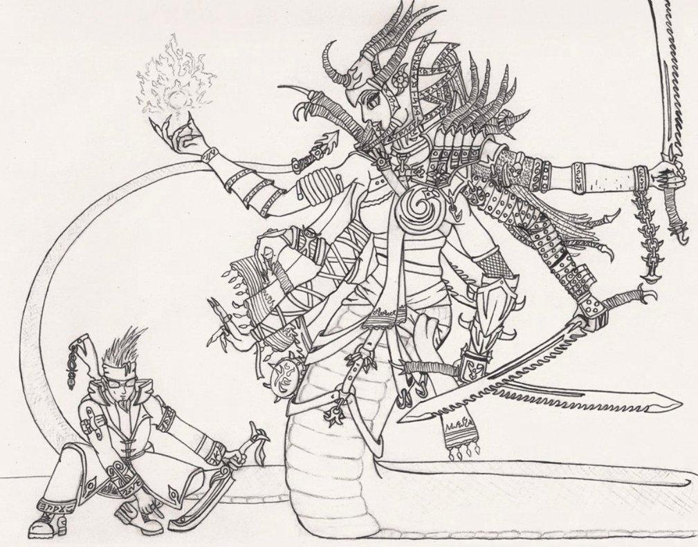 Summoner coloring #13, Download drawings