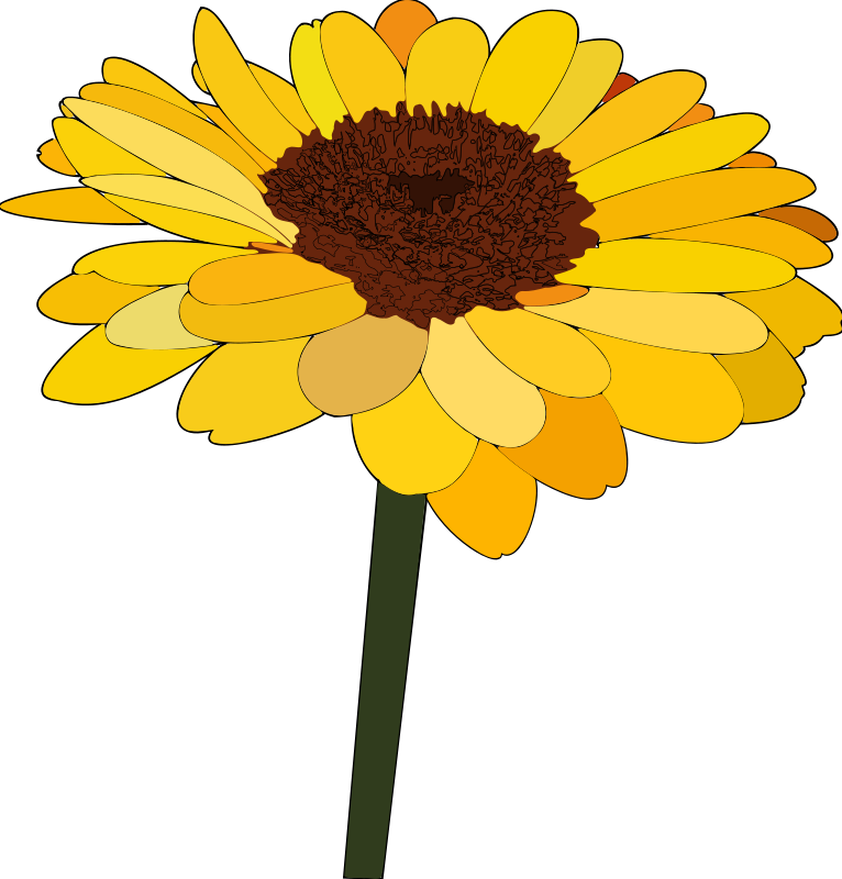 Sunflower clipart #1, Download drawings