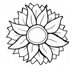 Sunflower svg #13, Download drawings