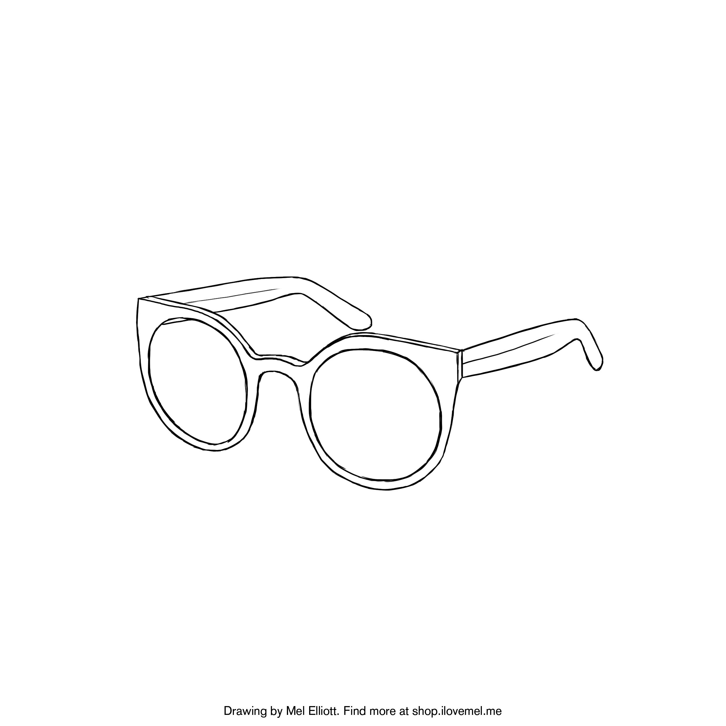 Coloring Pages Sunglasses