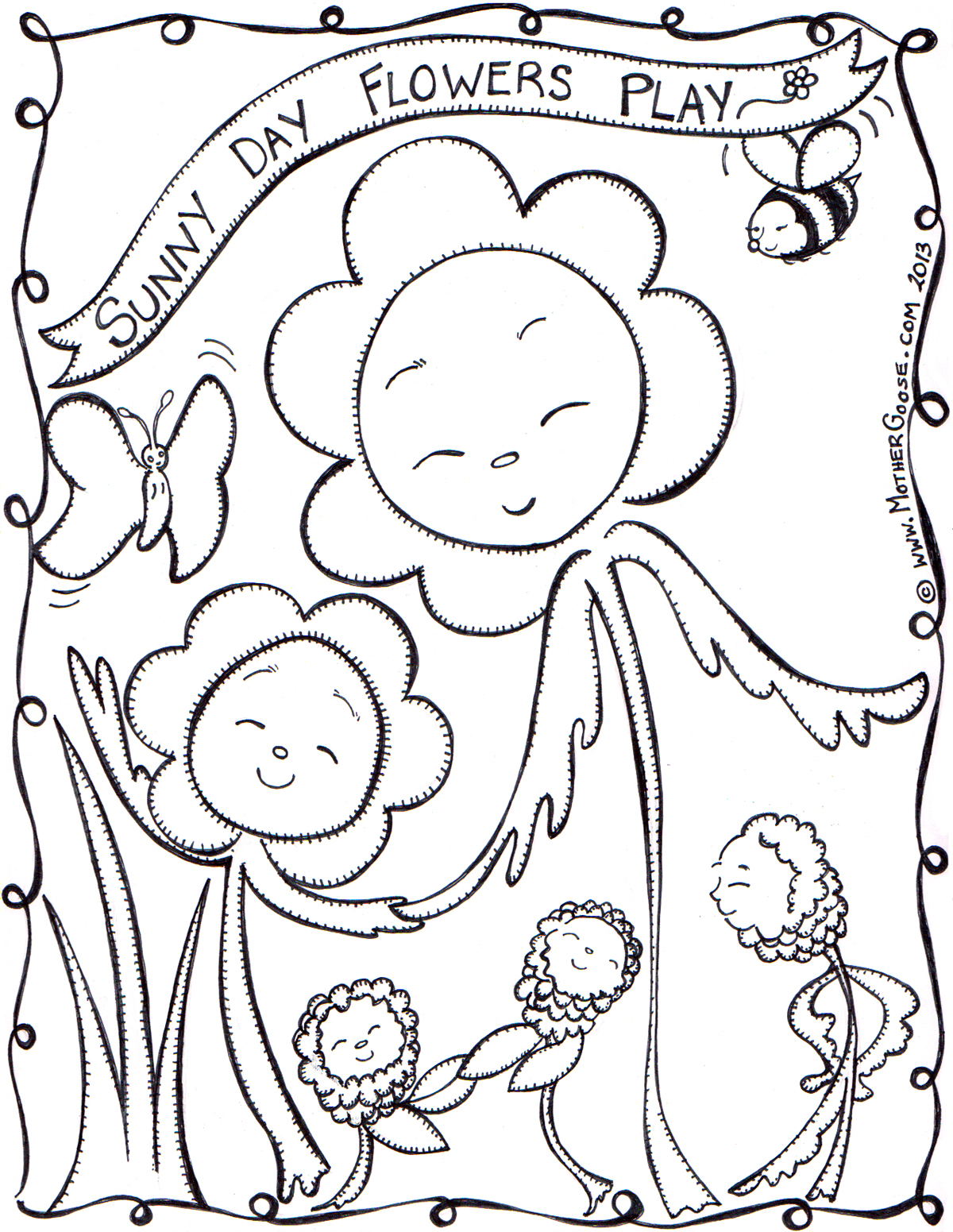 Sunny coloring #5, Download drawings