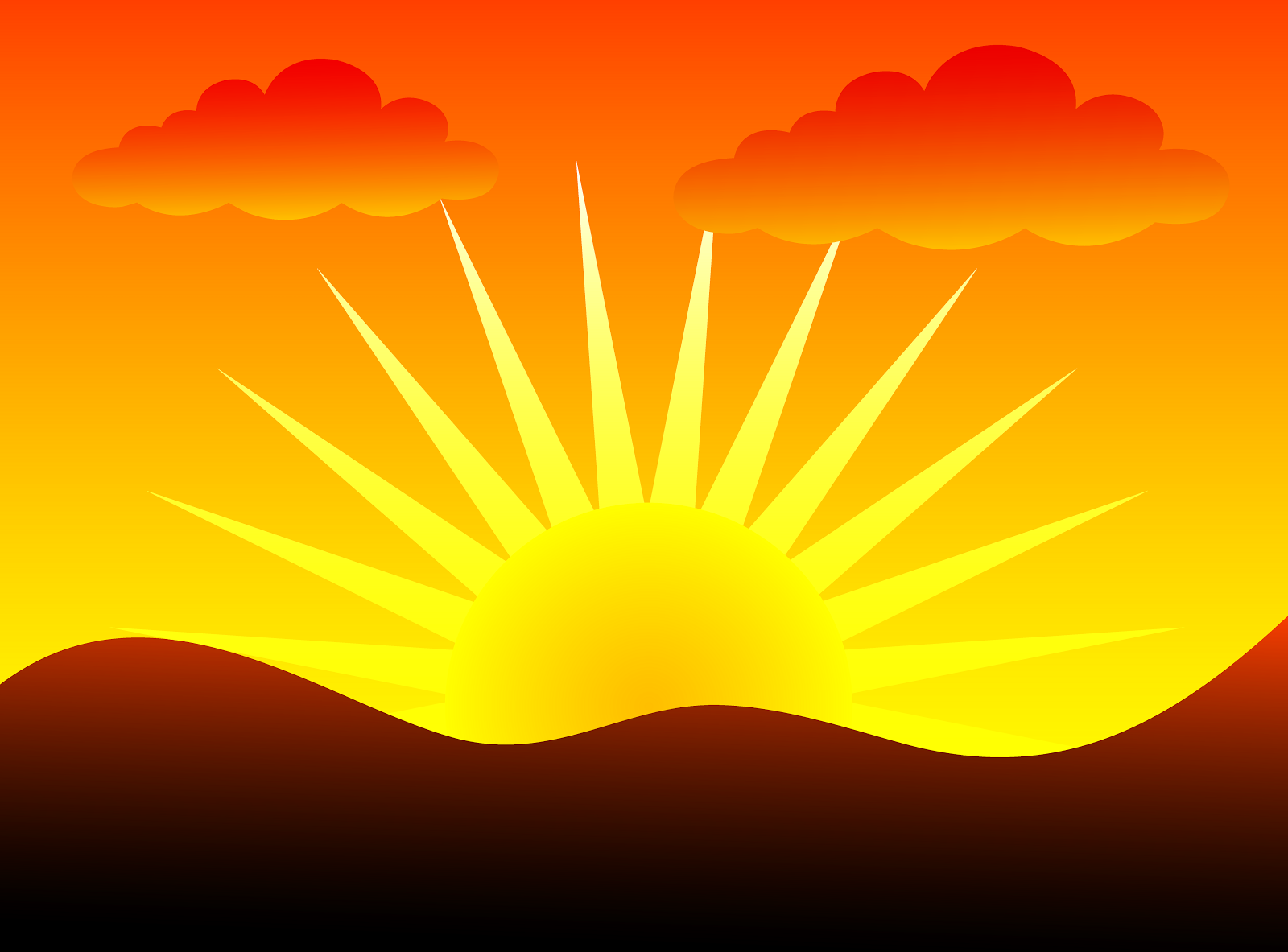Sunrise clipart #5, Download drawings
