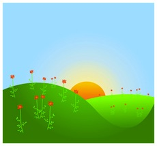 Sunrise clipart #1, Download drawings