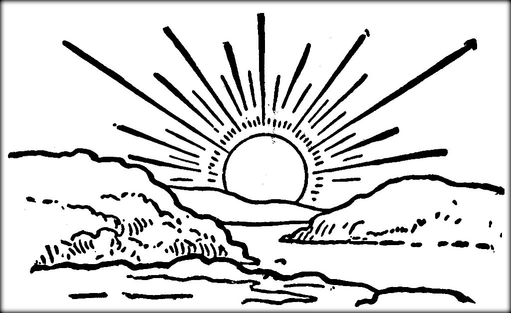 coloring pages sunrise - photo#7