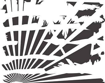 Sunrise svg #5, Download drawings