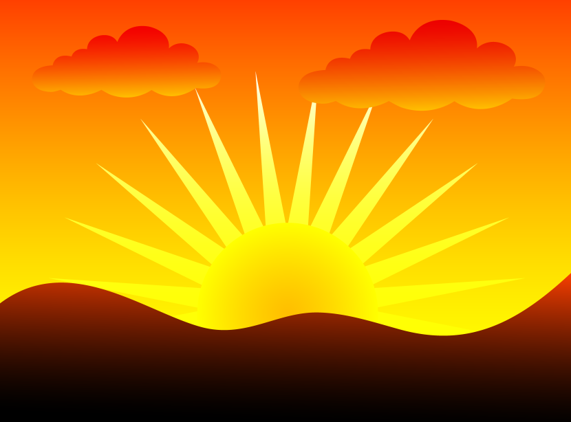Sunset clipart #10, Download drawings