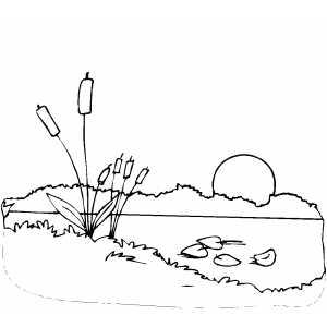 Lake Sunset coloring #17, Download drawings