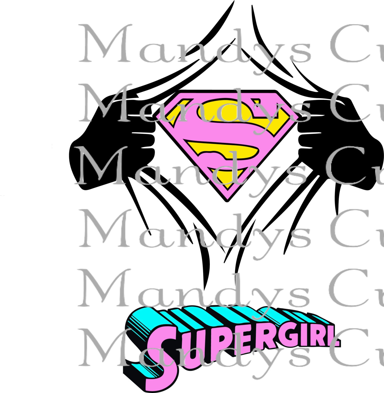 Supergirl svg #11, Download drawings