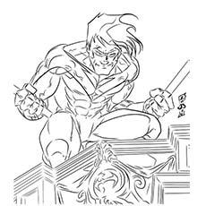 Superhero coloring #15, Download drawings