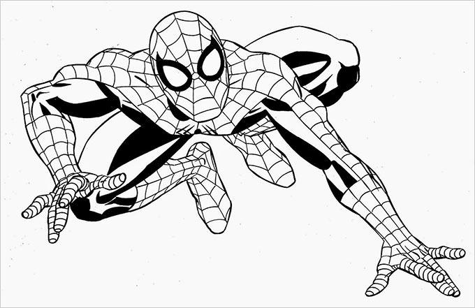 Superhero coloring #4, Download drawings