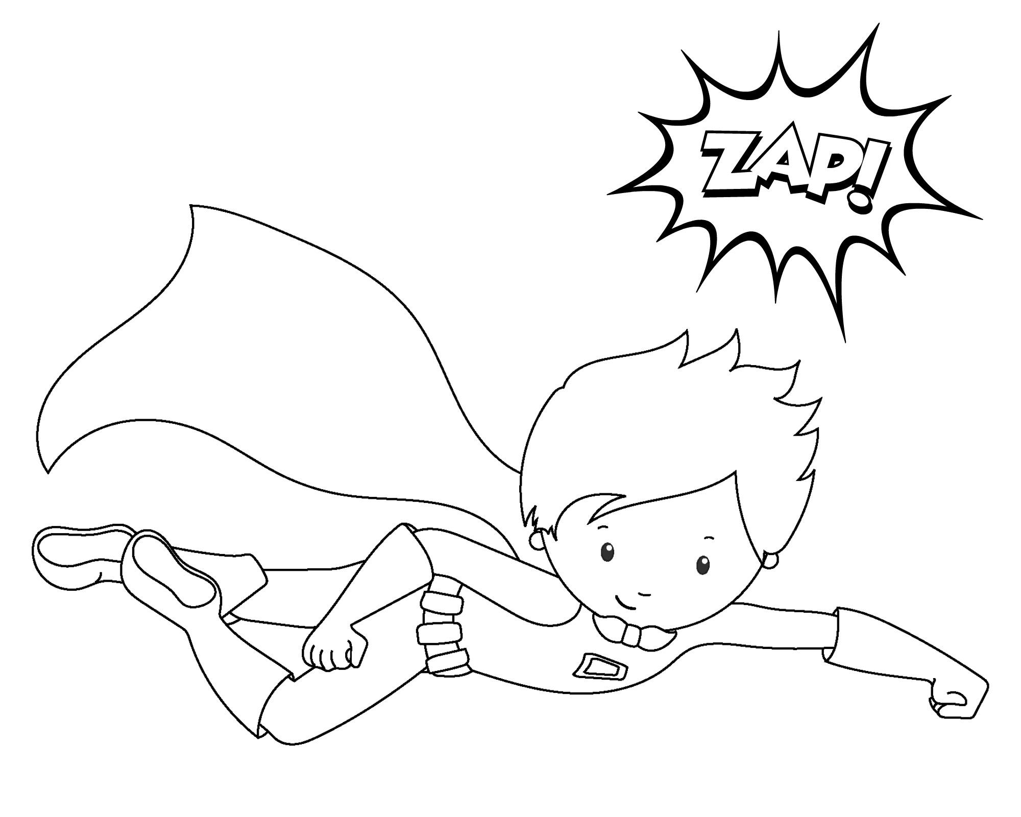 Superhero coloring #5, Download drawings