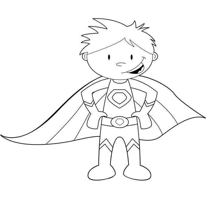 Superhero coloring #9, Download drawings