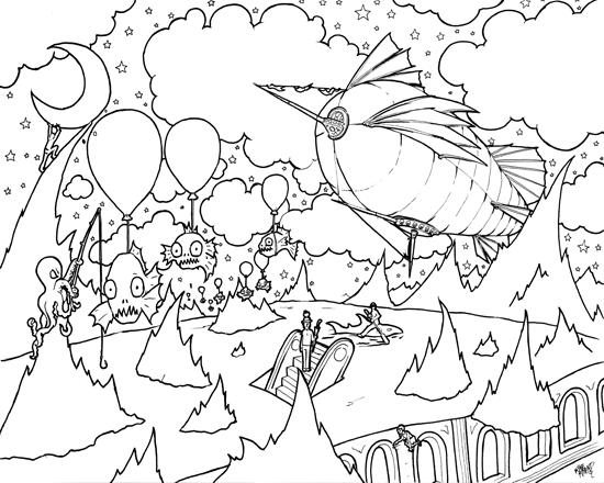 Surrealism coloring #18, Download drawings
