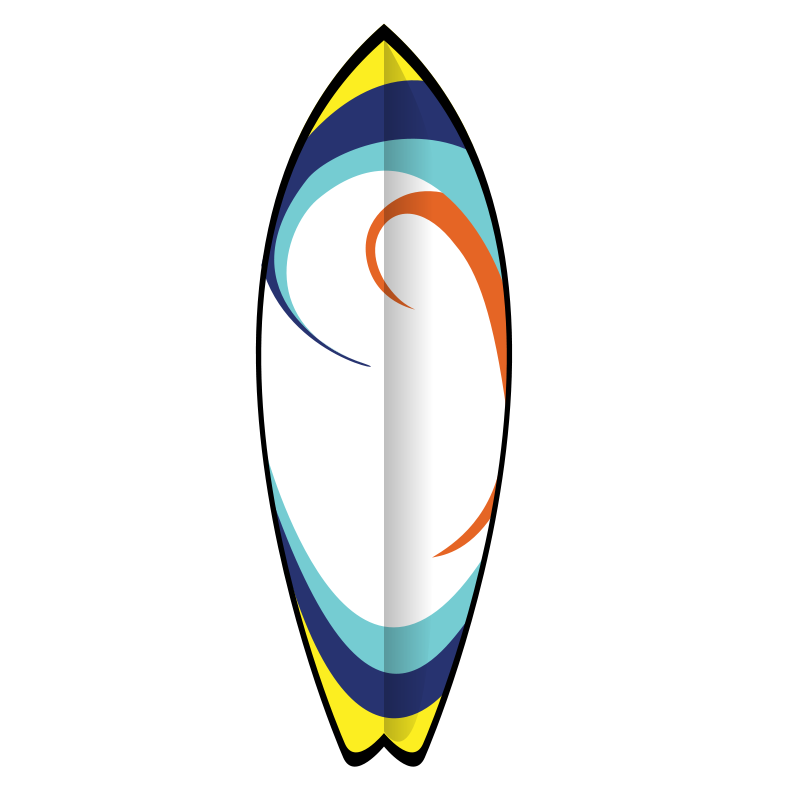 Surfboard clipart #20, Download drawings