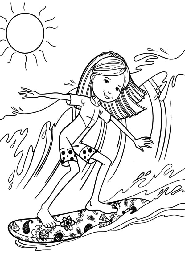 Surfer coloring #15, Download drawings