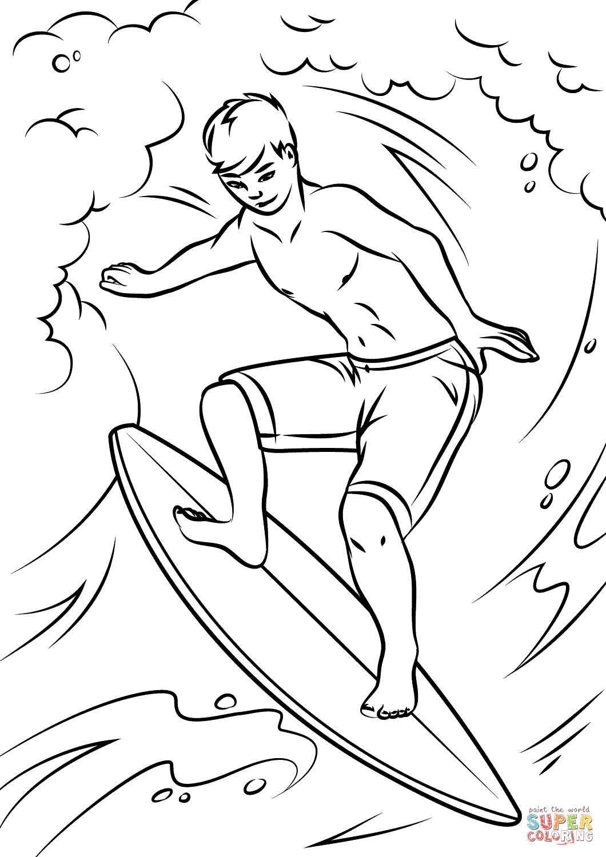 Surfer coloring #4, Download drawings
