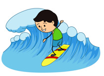Surfing clipart #2, Download drawings