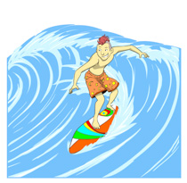 Surfing clipart #12, Download drawings