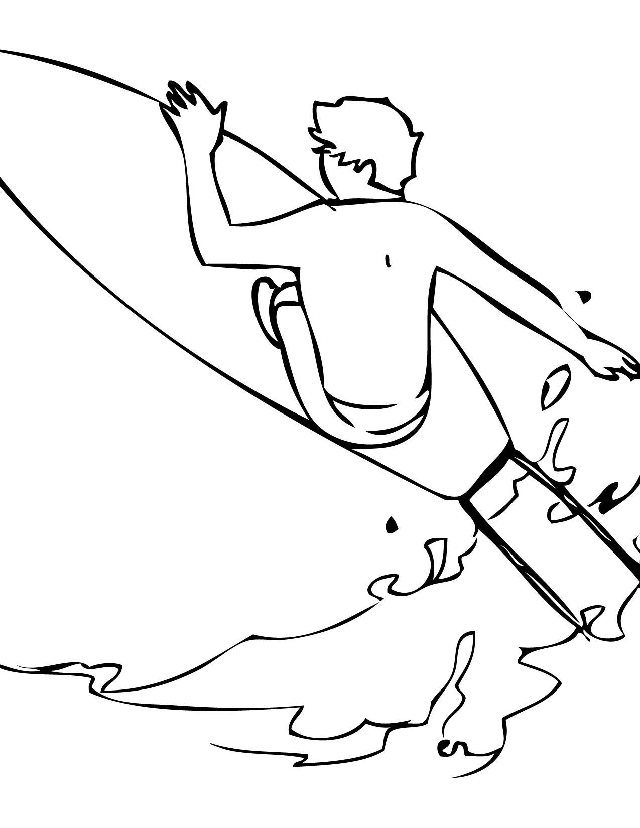 Surfer coloring #10, Download drawings