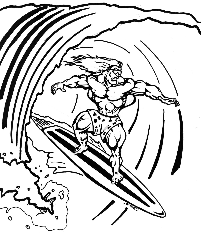 Surfer coloring #5, Download drawings
