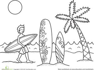 Surfer coloring #17, Download drawings