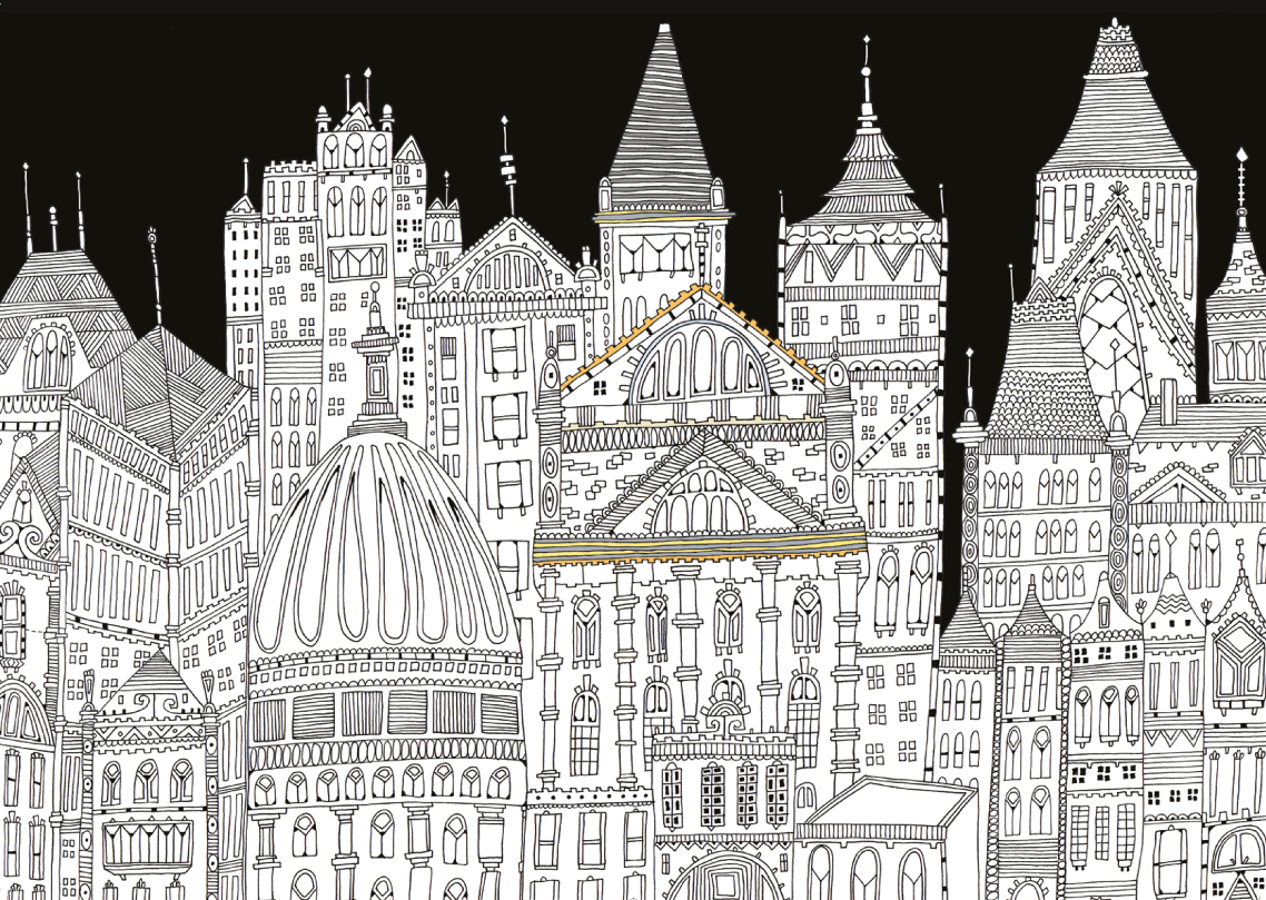 Surreal City! coloring #2, Download drawings