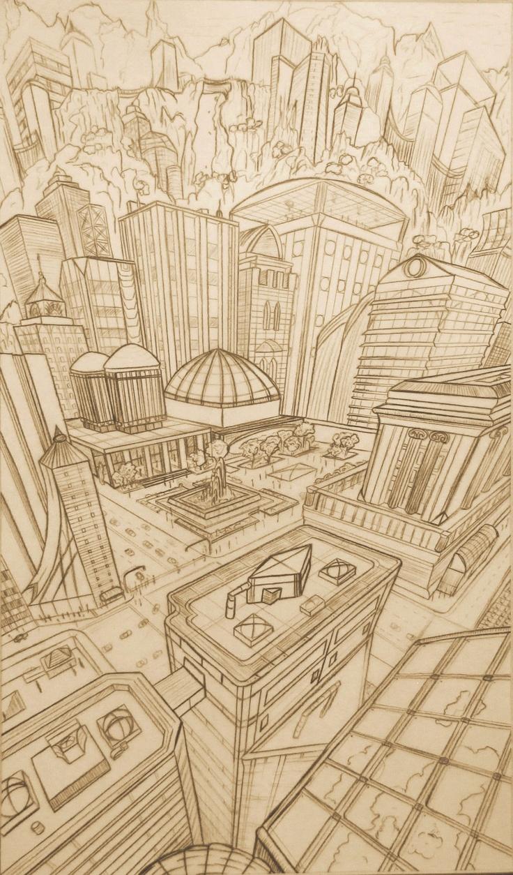 Surreal City! coloring #6, Download drawings